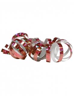 Glänzende Party-Luftschlangen 2 Stück holographisch rotgold jeweils 4m