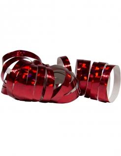 Glänzende Party-Luftschlangen 2 Stück holographisch dunkelrot jeweils 4m