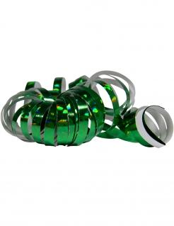 Glänzende Party-Luftschlangen 2 Stück holographisch grün jeweils 4m