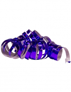 Glänzende Party-Luftschlangen 2 Stück holographisch lila jeweils 4m