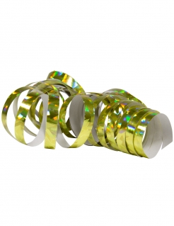 Glänzende Party-Luftschlangen 2 Stück holographisch gold jeweils 4m