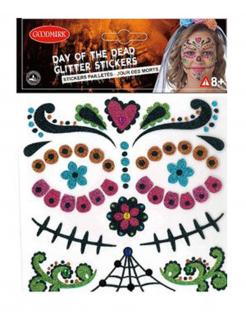 Calavera-Aufkleber Dia de los Muertos bunt