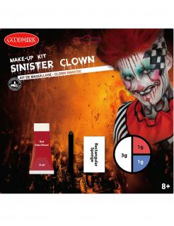 Killerclown Make-up-Set für Erwachsene 4-teilig bunt