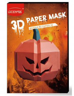3D-Kürbis-Maske Polygon-Maske Halloween orange