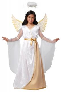 Himmlisches Engelskostüm für Mädchen Kinderkostüm weiss-gold
