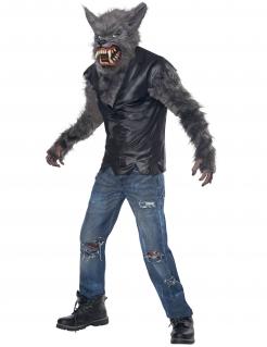 Cooles Werwolf-Kostüm für Kinder zu Halloween grau-schwarz
