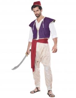 Orientalischer Prinz Herrenkostüm Orient-Kostüm weiss-lila