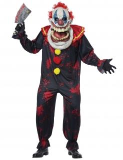 Gigantisches Horror-Clown-Kostüm für Herren Halloween-Kostüm bunt