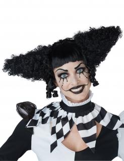 Psychoclown-Perücke für Damen Halloween-Perücke schwarz