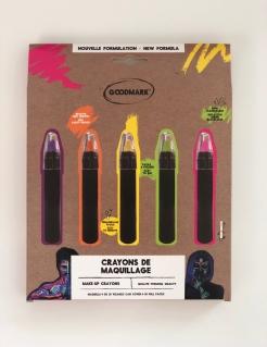UV-Schminkstifte 5 Stück bunt 2,8 g