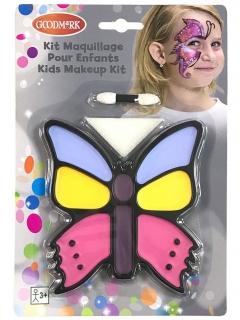 Schmetterling-Schminkset für Kinder 3-teilig bunt
