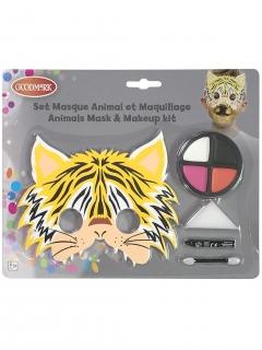 Tiger-Schminkset mit Maske für Kinder 5-teilig bunt