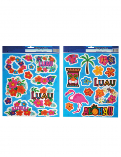 Stickerbögen Hawaii 2 Stück bunt