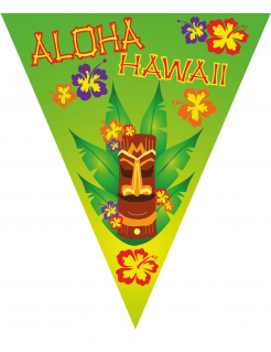 Hawaii-Girlande Aloha Sommer-Dekoration bunt 5 m