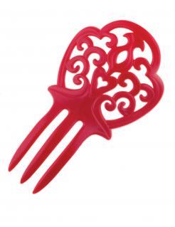 Spanische Haarnadel rot