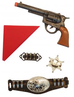 Cowboy-Set für Kinder Sheriff-Set 5-teilig bunt