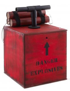 Detonator mit Licht und Sound Halloween-Deko rot 15x15x24cm
