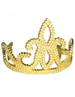 Kunststoff-Diadem für Kinder gold