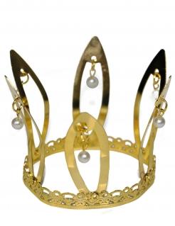 Mittelalterliche Krone Accessoire für Damen gold