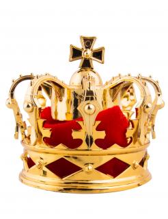 Mini-Krone Haarschmuck Accessoire gold-rot