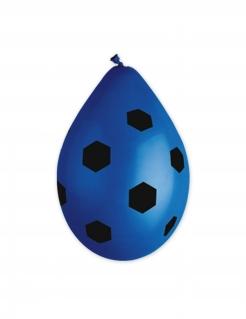 Fussball-Luftballon Dekoration 10 Stück blau 30cm