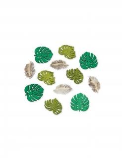 Tropische Streuteile Tischdeko 12 teilig grün-beige 4cm