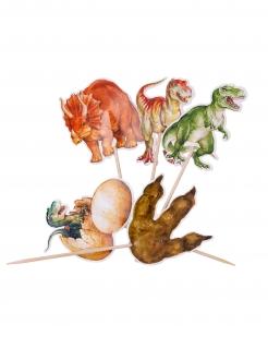 Dino-Kuchen-Deko Kindergeburtstag-Deko 20-teilig bunt 12,5 cm