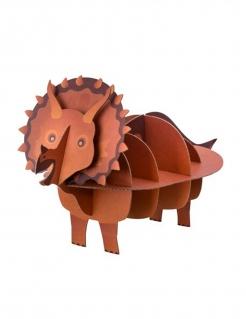 Dinosaurier-Tischdeko Kuchenhalter Triceratops braun 55x32x24cm