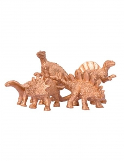 Dinosaurier-Figuren Dino-Deko 5 Stück golden 6 x 1,5 cm