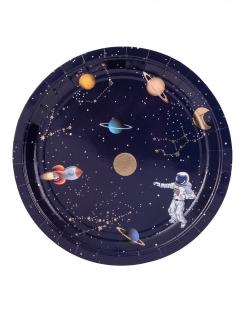 Pappteller Weltraum Astronaut 8 Stück bunt 23 cm