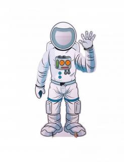Astronaut-Foto-Zubehör Weltraum-Fotofigur weiss 130x70cm