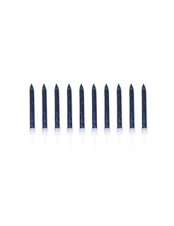Kerzen mit Bobechen 10 Stück blau-weiss 6 cm
