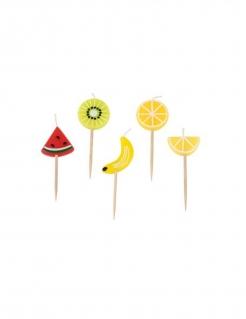 Party-Kerzen Früchte 5 Stück bunt 2 x 5 x 2,5 cm