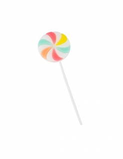 Lollipop-Kerze bunt 10,5 x 5 cm