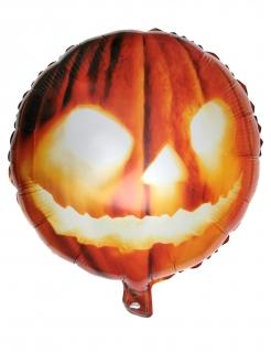 Kürbis-Luftballon Aluminium Dekorarion Halloween orange 35x18cm