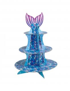 Meerjungfrauen Cupcake-Ständer blau-violett 40 cm