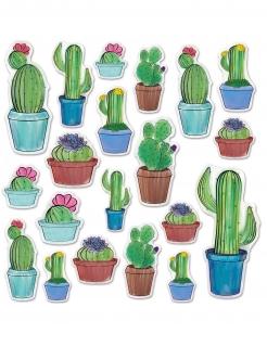 Kaktus Wanddeko 20 Stück bunt 7 - 38 cm
