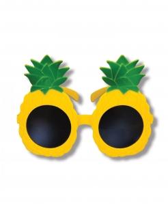 Originelle Ananas-Brille Scherzbrille für den Sommer gelb-grün