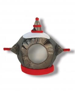 Futuristischer Roboter-Helm für Kinder silber-rot-weiss