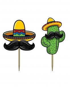 Mexiko-Zahnstocher für Snacks 50 Stück bunt 7 cm