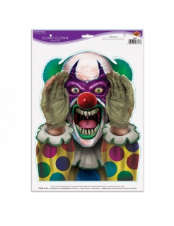 Horrorclown-Sticker Killerclown Halloween-Deko 30x43cm