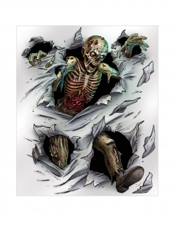 Zombie-Poster für Halloween Wandposter weiss-bunt 152x182cm