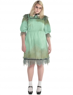 Schrecklicher Zwilling Damenkostüm in Übergröße Halloween-Kostüm türkis