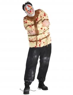 Psycho-Clown-Herrenkostüm Halloween-Kostüm beige-braun