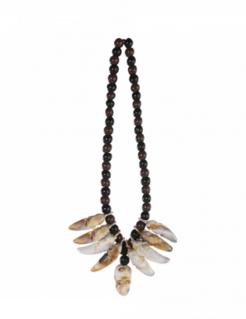 Voodoo-Halskette Zauberer-Accessoire schwarz-braun