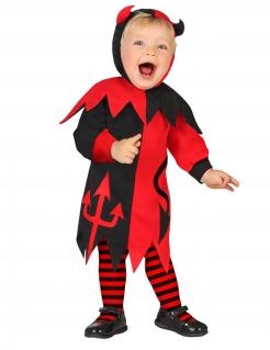 Teufel-Kostüm für Babys Halloween-Kostüm schwarz-rot
