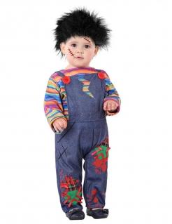 Horror-Puppe-Kostüm für Kleinkinder Kleinkinder-Halloween-Kostüm bunt