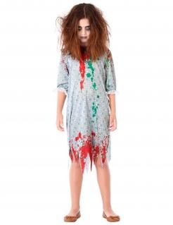 Zombie Kinderkostüm für Halloween grün-rot