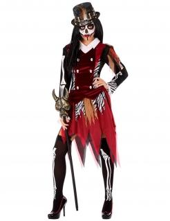 Voodoo-Kostüm für Damen Halloween-Kostüm rot