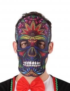 Tag der Toten-Maske Sugar Skull Halloween-Maske bunt